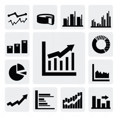 Business graph icons