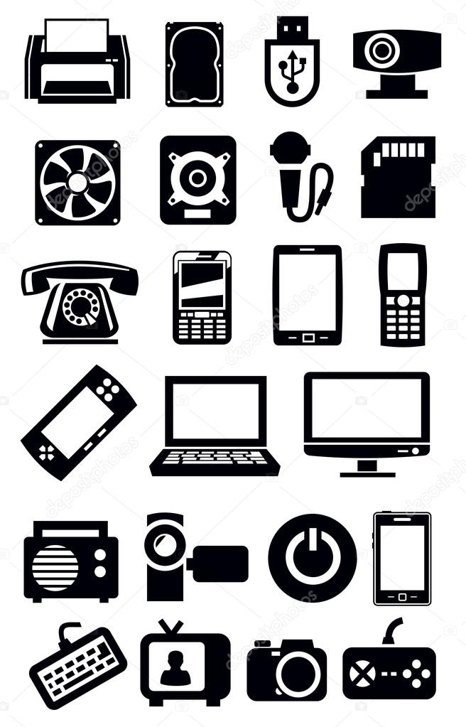 Elektronische Geräte-Symbol — Stockvektor © bioraven #24362829