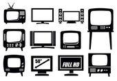 Fényképek Retro és modern tv-ikonok