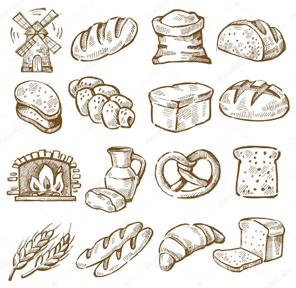 Hand Drawn Bread Stock Vector 169 Bioraven 26667547