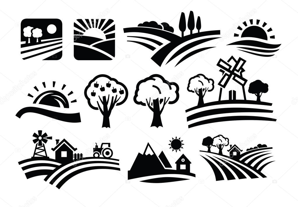 Vector nature icons
