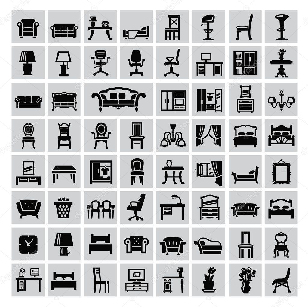 Icono de muebles archivo im genes vectoriales bioraven for Stock de muebles