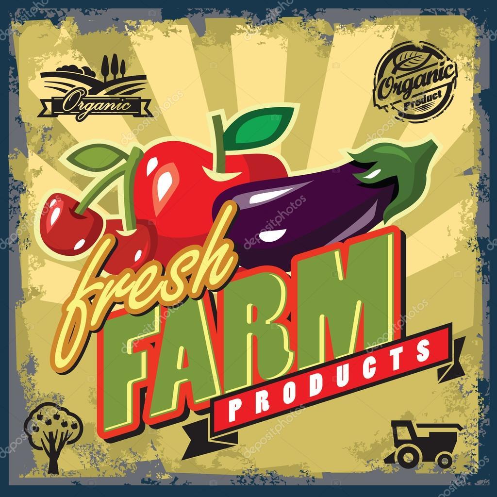 Fresh farm sign
