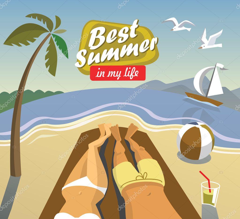 Vector summer vacation