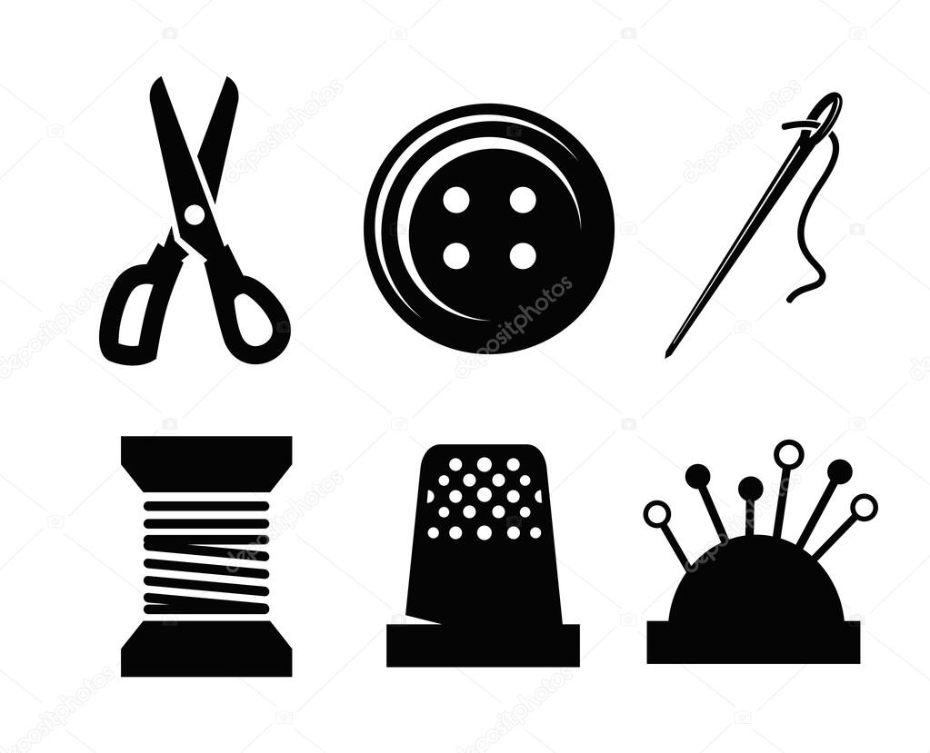 Vector Sewing Icons Stock Vector 169 Bioraven 38862265