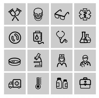 Medicine & Heath Care icons clip art vector