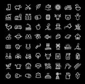 Photo Vector black agriculture and farming icons set