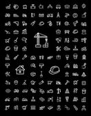 Stavebnice ikony vektorové černá