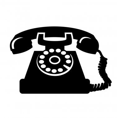 Vintage telephone icon