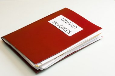 Business Folder over a white background. Accounting folders.