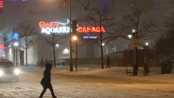 sněžení v Torontu