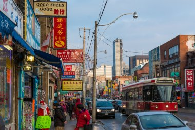 Diverse scenes of China town in Toronto,Canada