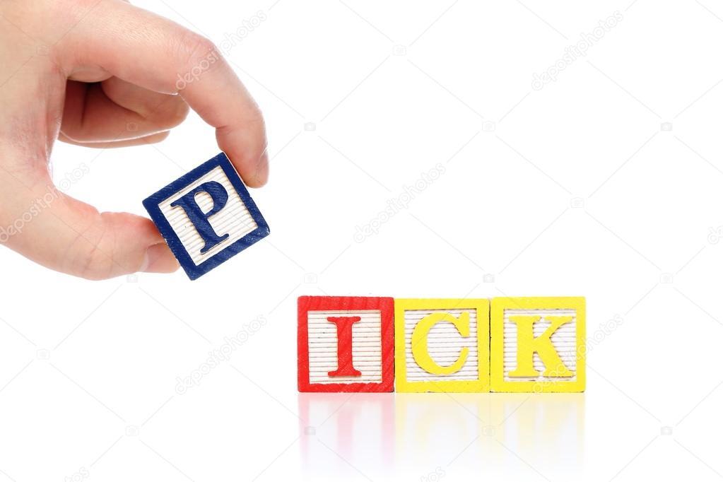 Man pick word — Stock Photo © payphoto #22250015