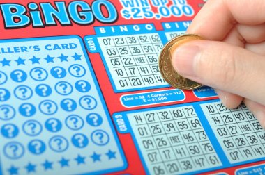 Scratching a lottery ticket