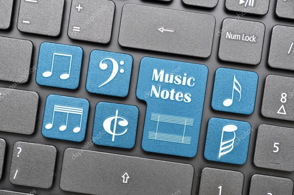 Music Notes On Keyboard Stock Photo Payphoto 27691865