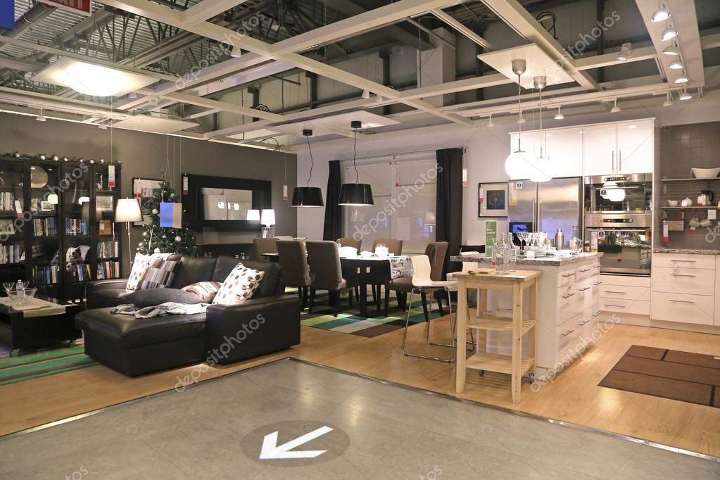 show room inside ikea store stock editorial photo payphoto 40256471. Black Bedroom Furniture Sets. Home Design Ideas