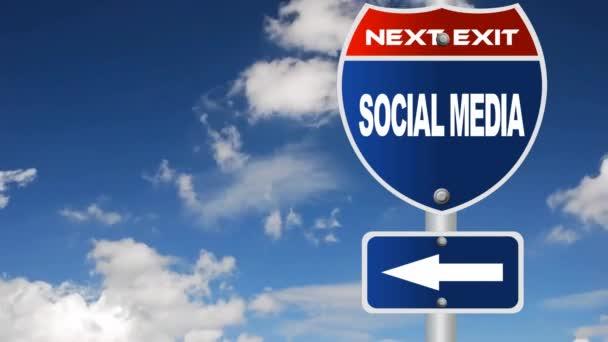 szociális média útjelzési áramló felhők
