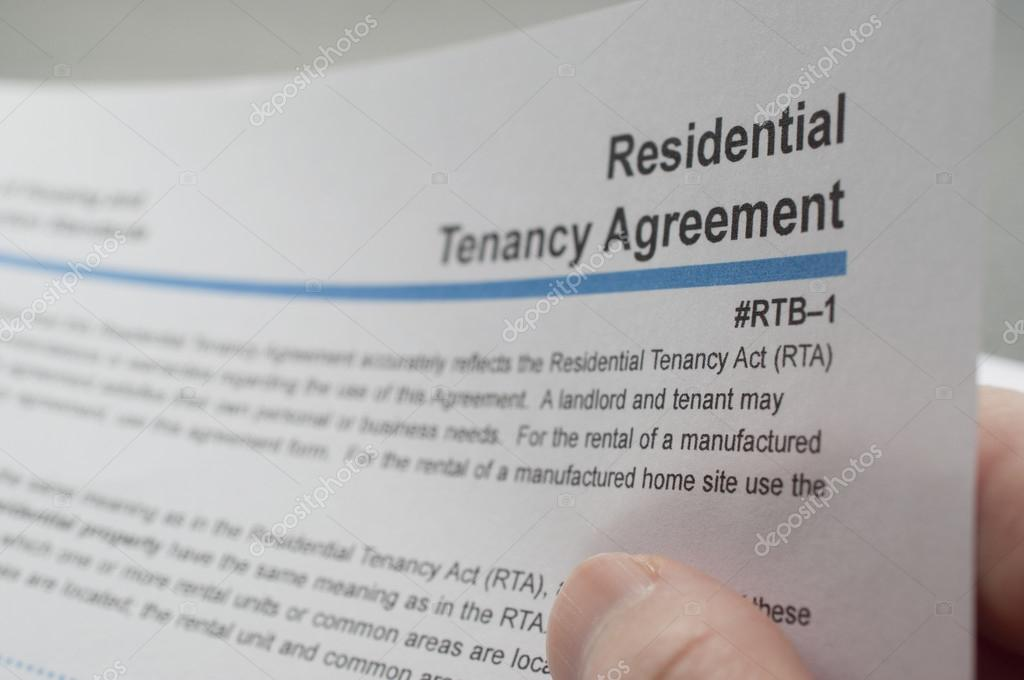 Reading Residential Tenancy Agreement Stock Photo Payphoto 48165251