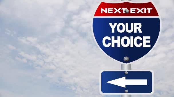 a választott út jel