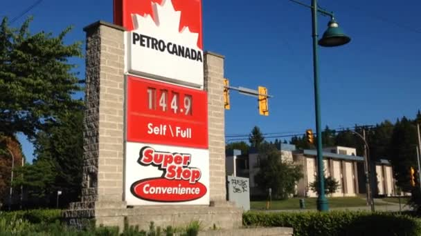 Petro Canada Gas Station Price Sign Stock Video Payphoto 49511159