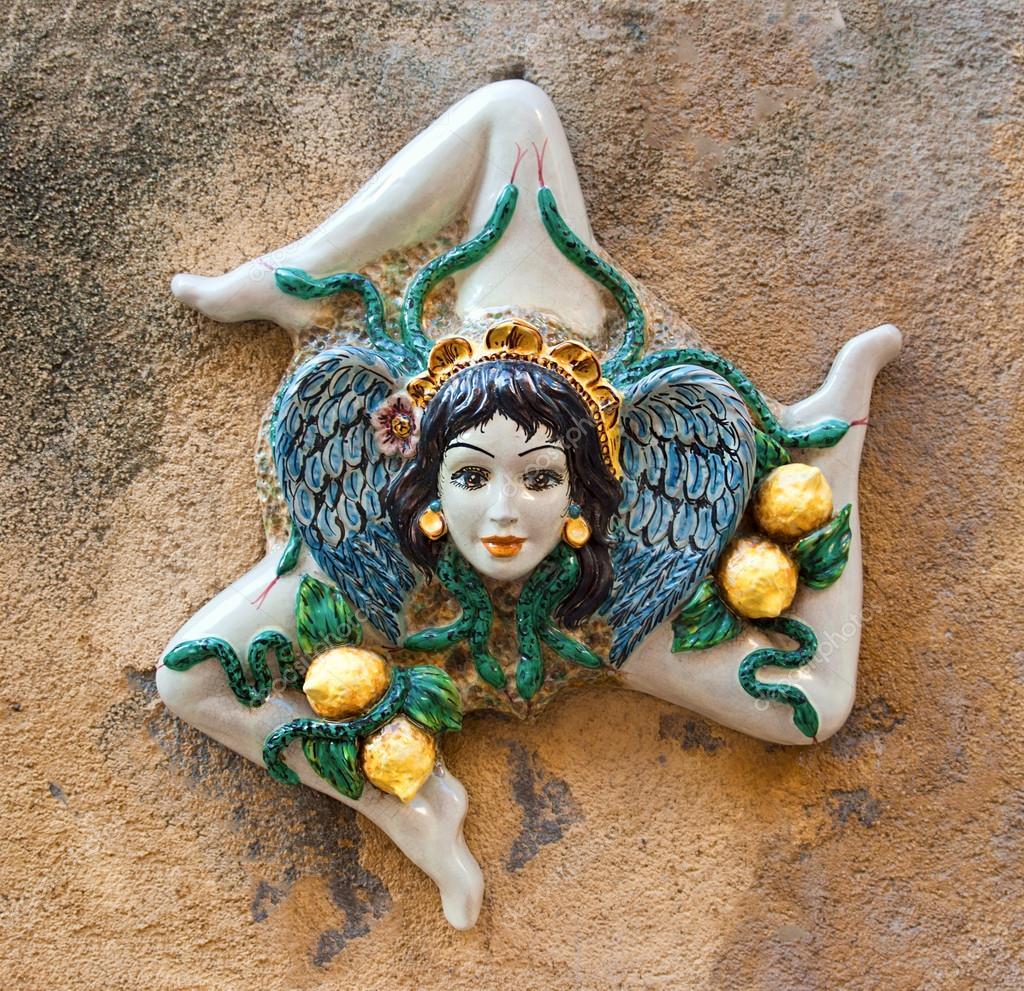 Trinakria Symbol Of Sicily Stock Photo Dikoz2009 27629073