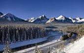 skalnaté hory v zimě