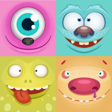 Set of Cartoon Monsters stock vector