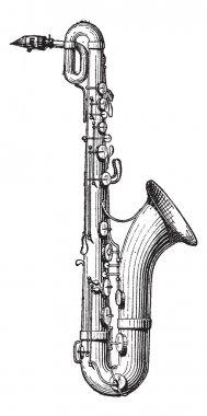 Saxophone vintage engraving