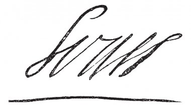Signature of Louis XIV or Louis the Great or Sun King, King of F
