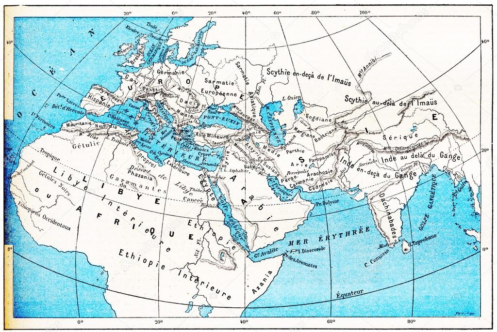 Ancient world map of europe asia and africa vintage engraving ancient world map of europe asia and africa vintage engraved illustration dictionary of words and things larive and fleury 1895 photo by morphart gumiabroncs Image collections