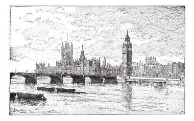 Westminster Bridge and the Houses of Parliament, London, England