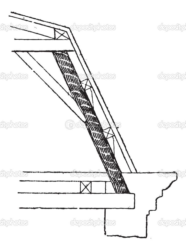 puntal (marco), vintage grabado — Vector de stock © Morphart #13670267
