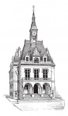 Town Hall at La Fert-sous-Jouarre in Seine-et-Marne, Ile-de-Fra