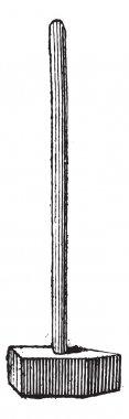 Straight-peen Sledgehammer, vintage engraving