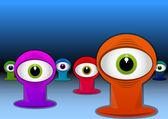 Photo Colorful One-eyed Creatures, illustration