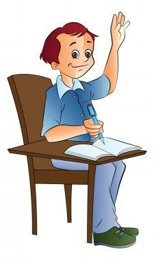 Boy Student, illustration