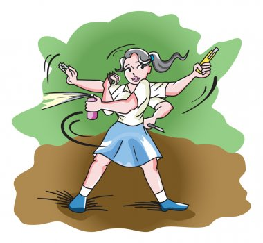 Self-Defense, illustration