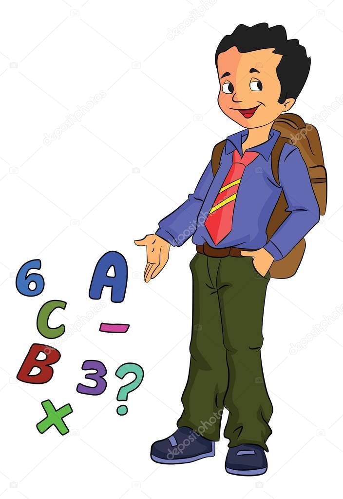 少年学習数学イラスト ストックベクター Morphart 16906627