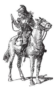 Vedette, vintage engraving