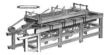 Polishing Table, vintage engraving