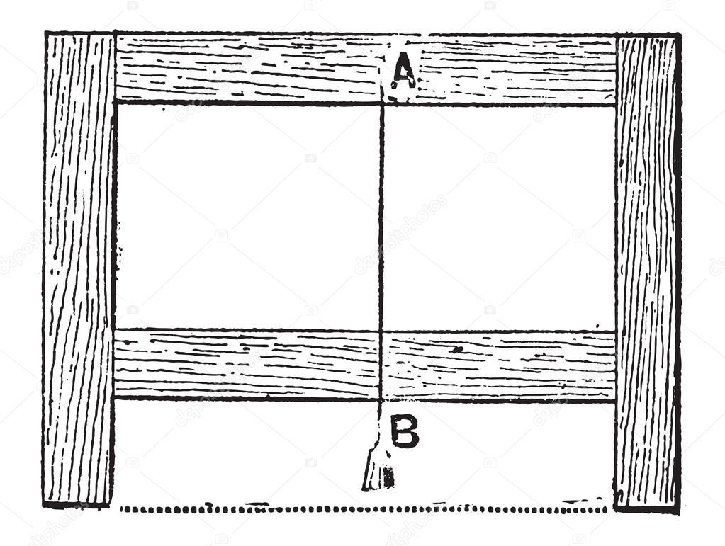 determinar el nivel de las piernas de un marco rectangular mediante ...