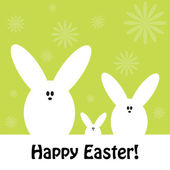 Fotografie Easter greeting card with cute bunnies (rabbits
