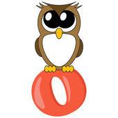 Alphabet for kids, letter o illustration