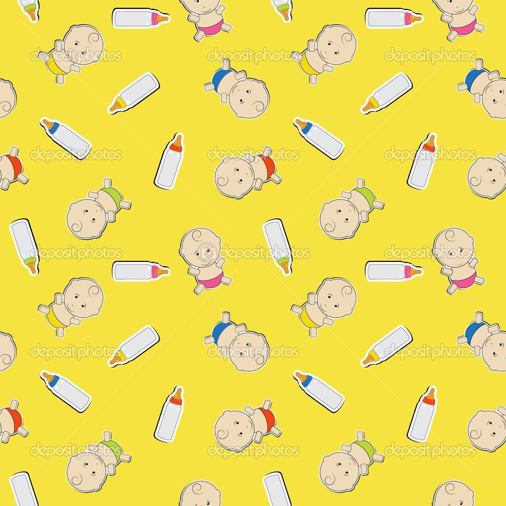 Cute baby background seamless pattern marinaua cute baby background seamless pattern marinaua voltagebd Gallery