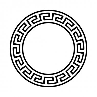 Greek national round pattern