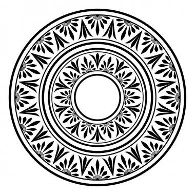 Greek national round pattern