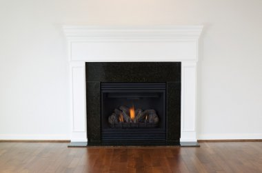 Large Natural Gas Fireplace