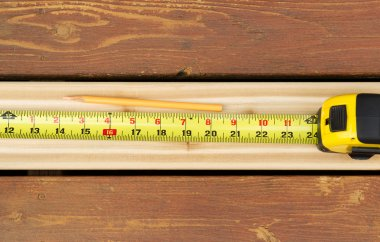 Measuring New Boards for Outdoor Deck