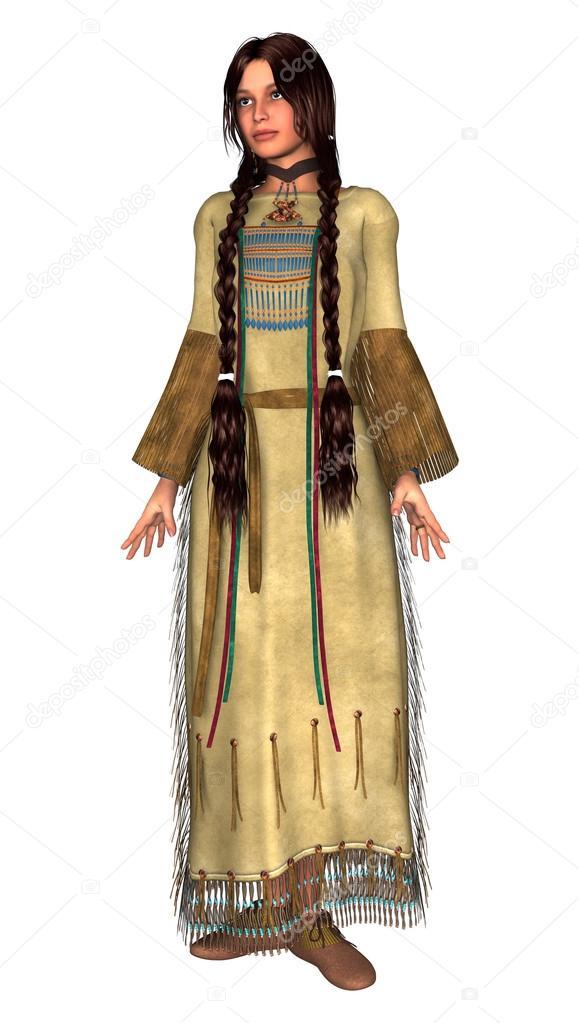 Nativa Americana Mujer Desnuda Vector - Descargar