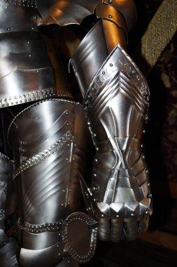 Medieval warrior soldier metal protective wear stock vector